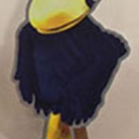 Centennial Jayhawk cutout created for the Kansas State Fair