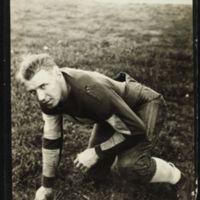 KU player, closeup, 1920s