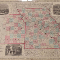 Johnson's Missouri and Kansas Map, ca. 1860