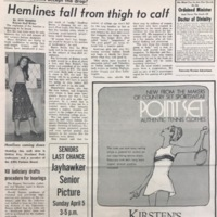 """UDK Article """"Hemlines fall from thigh to calf"""""""