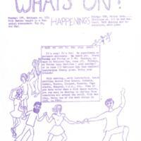 KU Folk Dancing flyer 1970/71