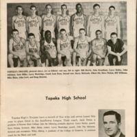 Topeka High School basketball team, the Trojans, 1961.