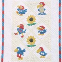 Jayhawk quilt with sunflowers, 1975