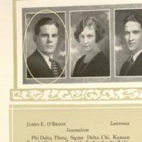 James O'Bryon 1924<em> Jayhawker Yearbook</em> photograph