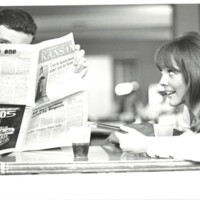 Photo of student reading UDK 1970