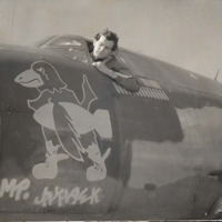 Jay Smith in His World War II Bomber, 1944