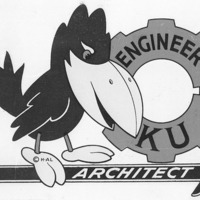 Jayhawk logo for the KU School of Engineering and Architecture, 1959