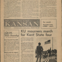 Front page of the May 6th University Daily Kansan