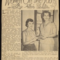 """Women on the Job"" article about Martha Peterson"