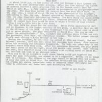 July 22 issue of the Oread Daily with a diagram of the scene of Nick Rice's death and announcement of a mass rally to be held in front of the Gaslight Tavern