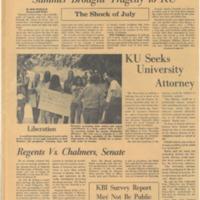 "UDK August 27 1970 ""Regents vs. Chalmers, Senate"""