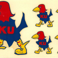 1929 Fighting Jayhawk decal sheet