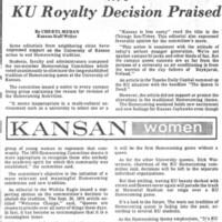 1970 Homecoming Queen UDK article