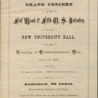 1873 Commencement ephemera.