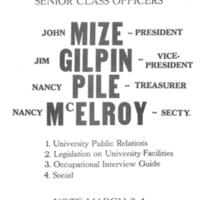 1970/71 Student Election Flyer