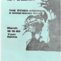 """""""The Other America"""" Social Issue Forum flyer/program"""