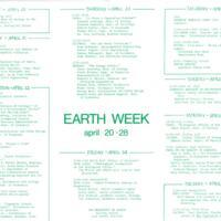 Earth Week 1970 Events Flyer