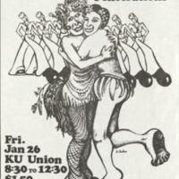 Poster advertising a dance sponsored by Gay Liberation, Jan. 26, 1972
