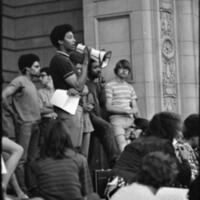 Student Speaking During an Anti-Vietnam War Protest
