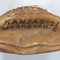 Football from the KU v. Washburn game, 1910