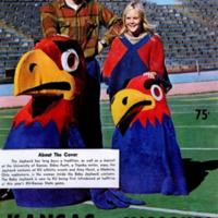 Baby Jay and Big Jay on <em>Kansas Alumni Magazine</em>, November 1971