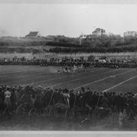1898 game, carriages at sidelines.