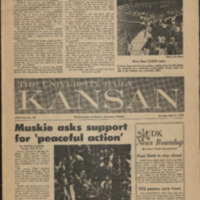 Front page of the May 11 1970 issue of the University Daily Kansan