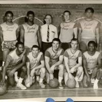 Michael G. Shinn with Euclid Lamps basketball team, General Electric, 1970.