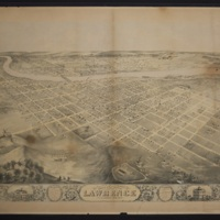 Bird's Eye View of the City of Lawrence