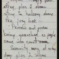 """Thomas Johnson's notes from the Coroner's Inquest into the death of Rick """"Tiger"""" Dowdell"""