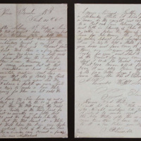 Letter by John Henry Vansickle, dated February 20, 1860