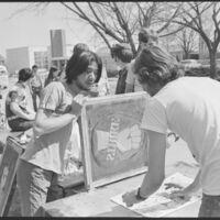Strike Day screen printing, April  1970