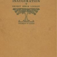Chancellor Lindley's Inaugural Address