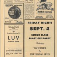 UDK Sept 2 1970 One Fined in ROTC Incident