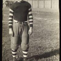 KU football player, 1890s.