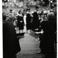 Commencement 1970 Photo of Graduates at Allen Fieldhouse