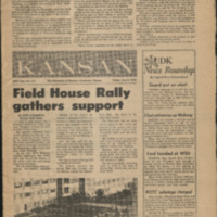 Front page of the May 8 1970 University Daily Kansan