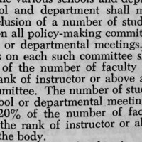 3.4.2 rule of the Senate Code that mandates that 20 percent of university policy-making committees be comprised of students as voting members