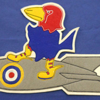 R.A.F. Insignia Patch Featuring a Jayhawk Created for Robert Raymond, 1941