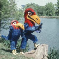 Big Jay and Baby Jay hanging out at Potter Lake, 1970s
