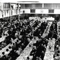 Students gathered at 1971 commencement celebration