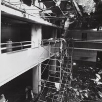 The gallery around the Ballroom destroyed by the Memorial Union fire