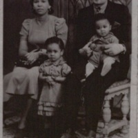Ira and Irene Shinn, Michael's paternal uncle and aunt, with their children, Juanita and Ira, Jr., 1940s.