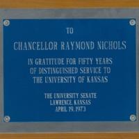 Distinguished Service Award to Chancellor Nichols.
