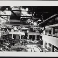 Interior damage of Memorial Union fire on second floor