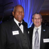 Michael G. Shinn and Michael Branicky, Dean of KU's School of Engineering, 2014.