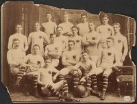 McGill University senior football team, including James Naismith (seated, far left)