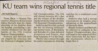 KU team wins regional tennis title