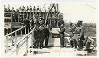 Laying the cornerstone of the Kansas Memorial Union, April 1926.