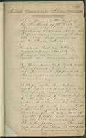Minutes of the McGill University Athletic Association<br /> Cover page; October 8, 1884 <br />